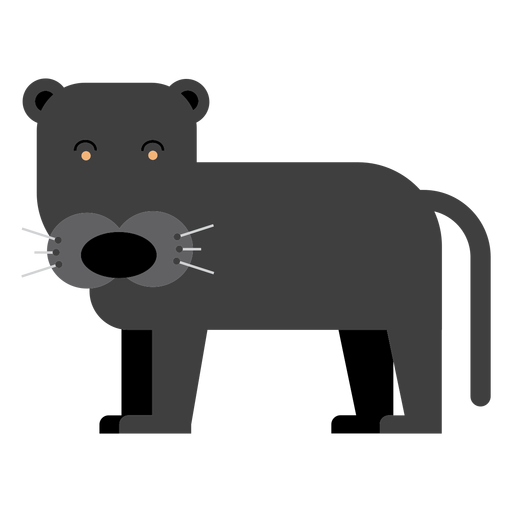 Black cougar illustration Transparent PNG
