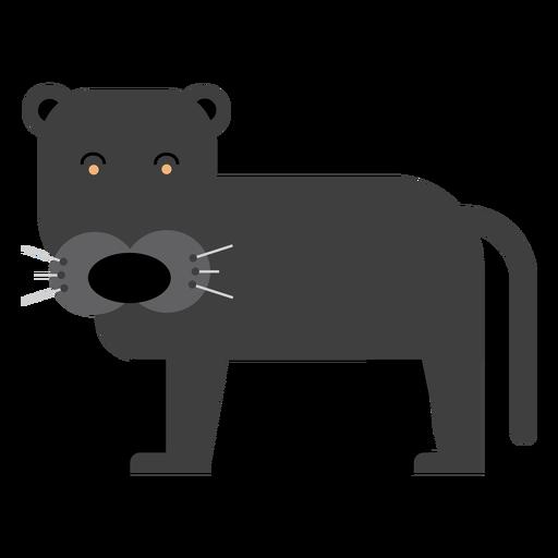Ilustración de puma negro Transparent PNG