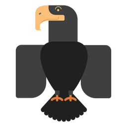 Black eagle bird illustration