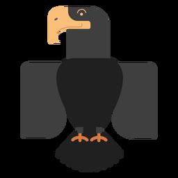 Ilustración de pájaro águila negra