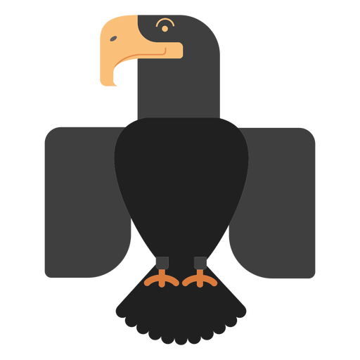Black eagle bird illustration Transparent PNG