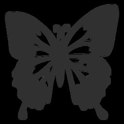 Silueta de mariposa emperador azul