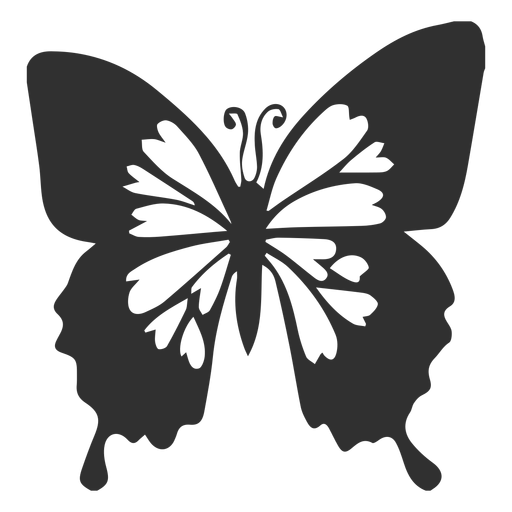 Blue emperor butterfly silhouette - Transparent PNG & SVG vector