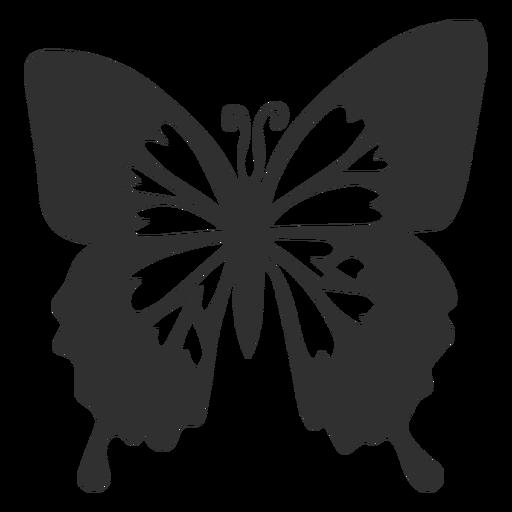 Silueta de mariposa emperador azul Transparent PNG