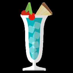 Azul, havaí, coquetel, ícone