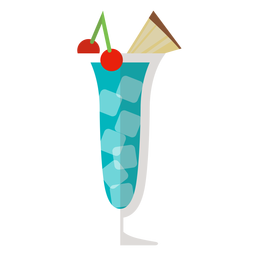 Blue hawaii cocktail icon