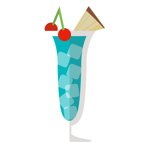 Blue hawaii cocktail icon Transparent PNG