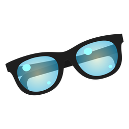 Blue lens sunglasses icon