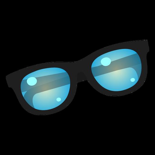 Blue lens sunglasses icon