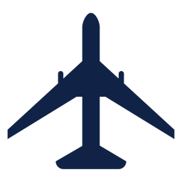 Boeing 777 airplane top view silhouette
