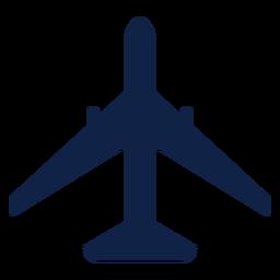 Silueta de vista superior de avión Boeing 777