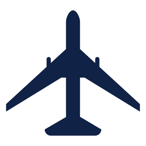 Boeing 777 airplane top view silhouette Transparent PNG