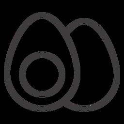 Icono de golpe de huevo cocido