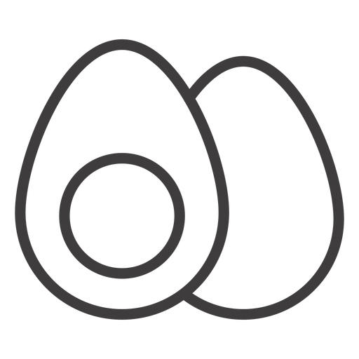 Boiled egg stroke icon Transparent PNG