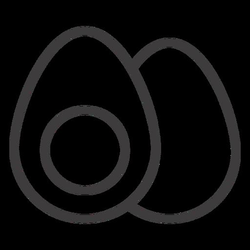 Icono de golpe de huevo cocido Transparent PNG