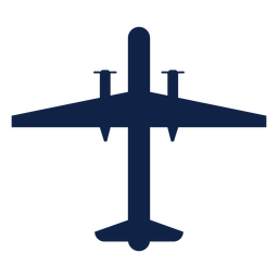 Bombardier airplane top view silhouette
