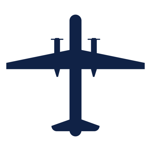 Bombardier airplane top view silhouette Transparent PNG