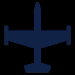 Bombardero aviones vista superior silueta