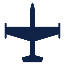 Bomber aircraft top view silhouette