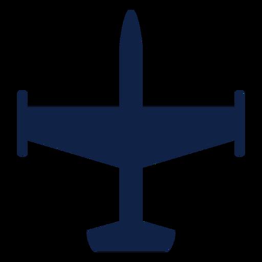 Silhueta de vista superior do avião bombardeiro Transparent PNG