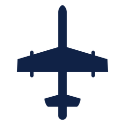 Bomber Flugzeug Draufsicht Silhouette
