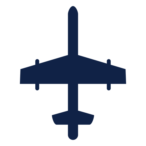 Bomber airplane top view silhouette Transparent PNG
