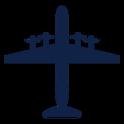 Vista superior del avión bombardero silueta vista superior del avión