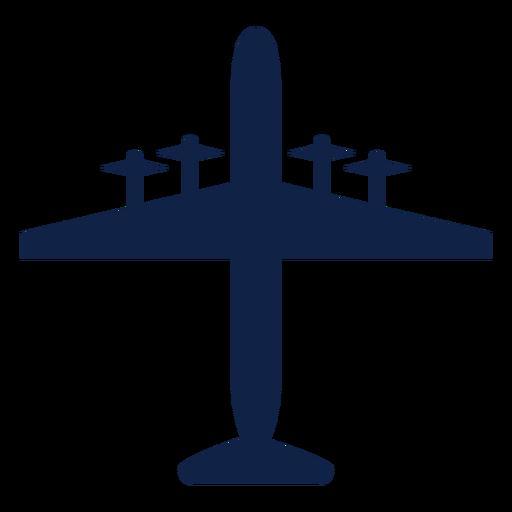 Bomber airplane top view silhouette vista superior do avião Transparent PNG