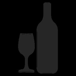 Flasche und Glas flach Symbol