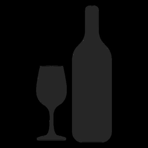 Icono plano de botella y vidrio Transparent PNG