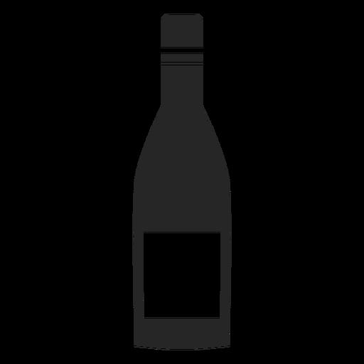 Botella de vino icono plano Transparent PNG