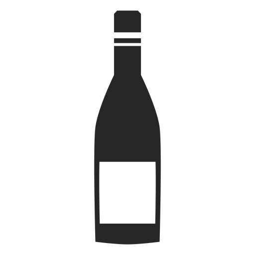 Bottle of wine flat icon Transparent PNG