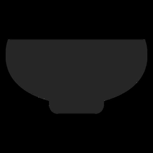 Ícone plana tigela Transparent PNG