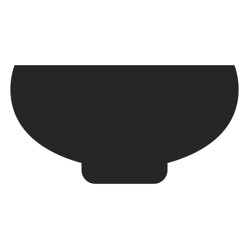 Icono plano del tazón Transparent PNG