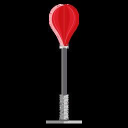 Boxing freestanding speed bag icon