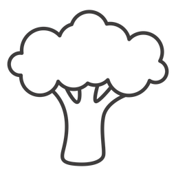 Broccoli stroke icon broccoli