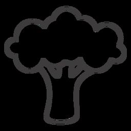 Brócolis de ícone de traço de brócolis