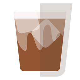 Brown butter cocktail icon