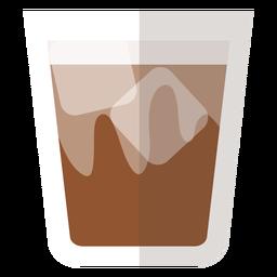 Icono de cóctel de mantequilla marrón