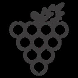 Racimo de uvas icono de uvas