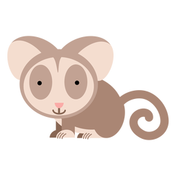 Bush baby galago illustration