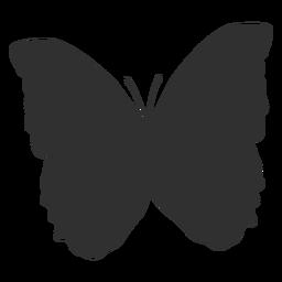 Silhueta de animais de borboleta