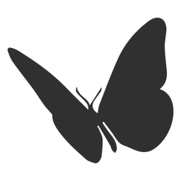 Mariposa volando silueta