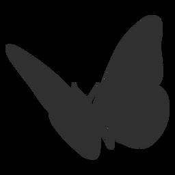 Silhueta de voar de borboleta