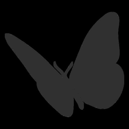 Silhueta de voar de borboleta Transparent PNG