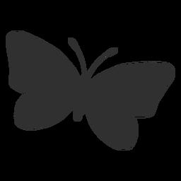 Icono de silueta volando mariposa