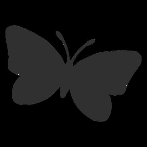 Borboleta voando ícone de silhueta Transparent PNG