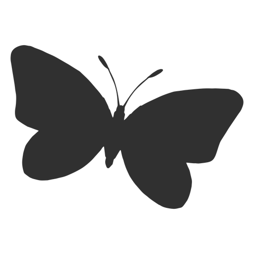 Butterfly flying silhouette icon Transparent PNG