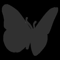Silhueta de inseto borboleta