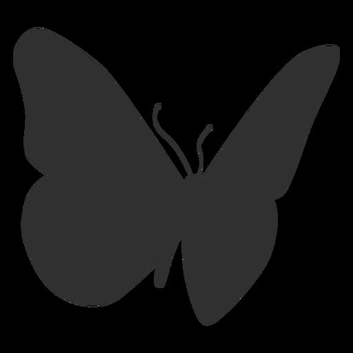 Silueta de insecto mariposa Transparent PNG